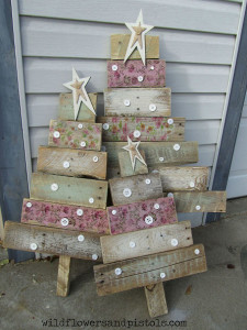 Christmas Trees Made from Used Pallets