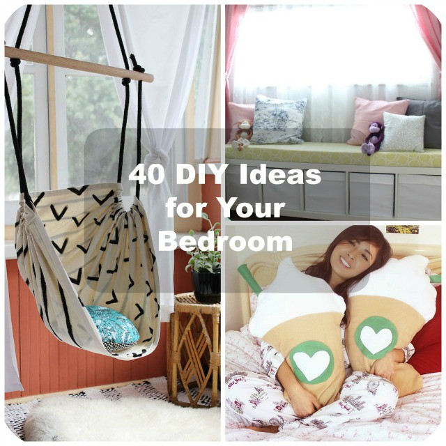 40 diy bedroom decorating ideas for Cute diy bedroom ideas