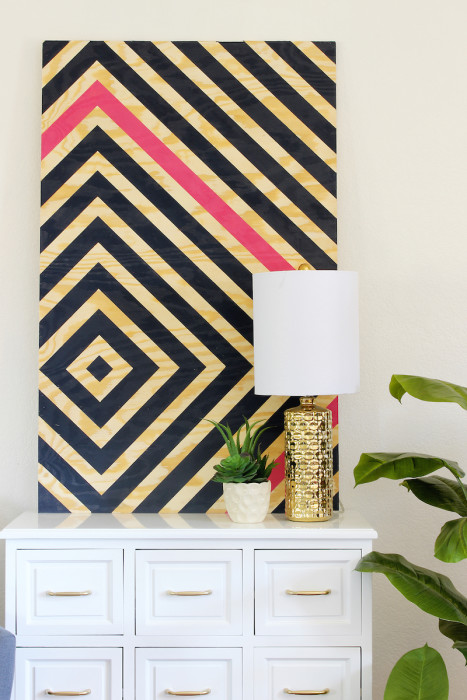 diy diamond ripple wall art - Diy Bedroom Decorating