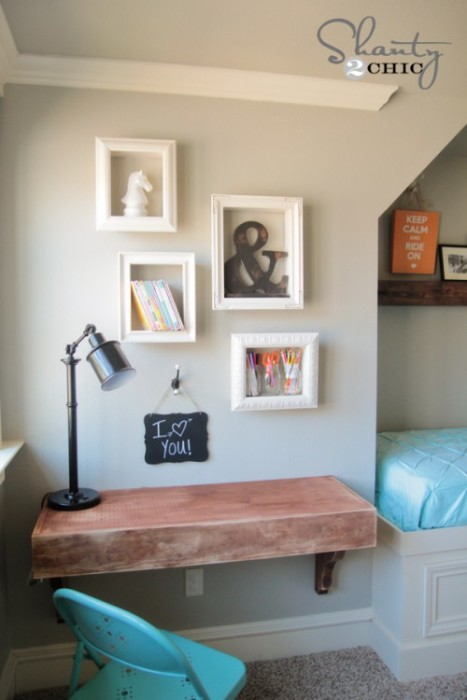 diy frame shelves - Bedroom Decorating Ideas Diy