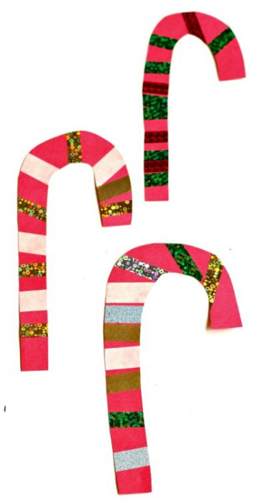 40 christmas crafts ideas easy for kids to make for Easy candy cane crafts