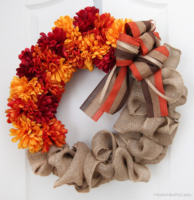 40 Homemade Fall Wreaths To Make For Your Front Door