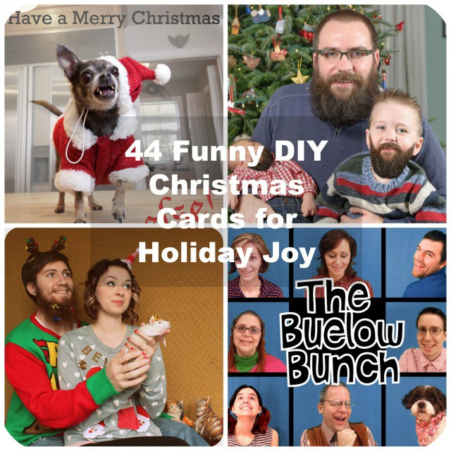 44 Funny DIY Christmas Cards for Holiday Joy