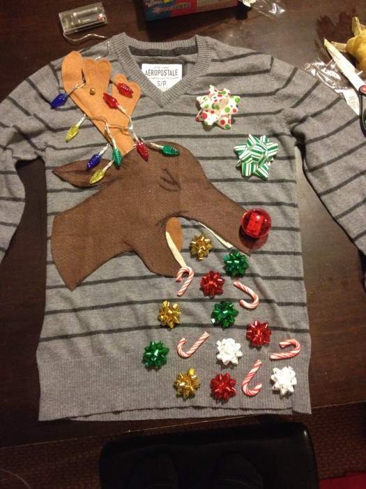 Reindeer Kids Ugly Christmas Sweater