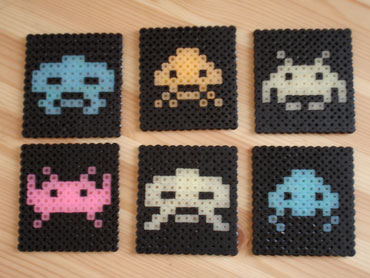 Space Invader Coasters