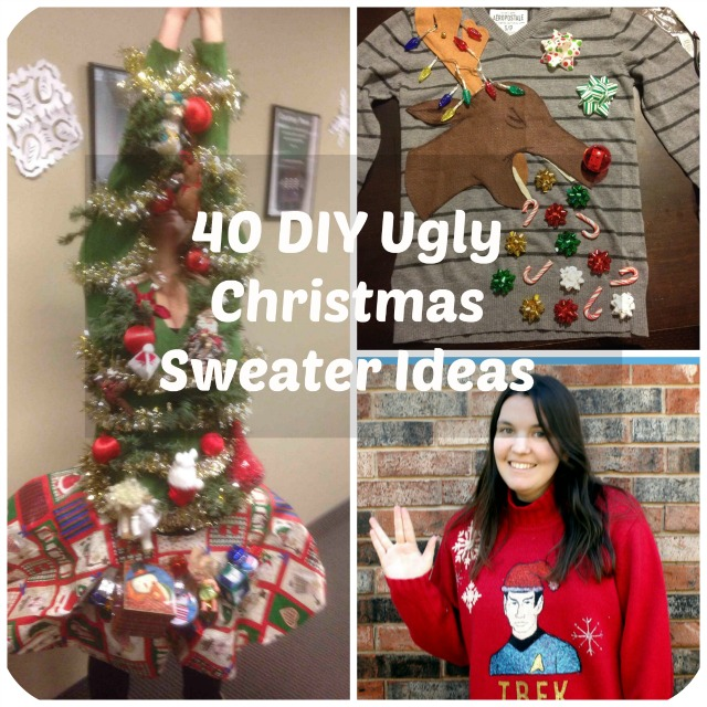 Ugly christmas sweater ideas diy