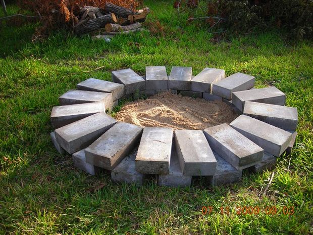 Fire Pit Ring : Diy backyard fire pit ideas you can build