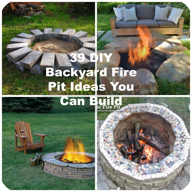Backyard Fire Pit Plans : 39 DIY Backyard Fire Pit Ideas You Can Build  DIY Projects for Making