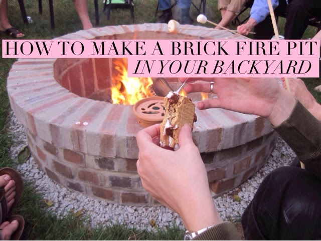 How to make a brick fire pit in your backyard for Diy brick fire pit