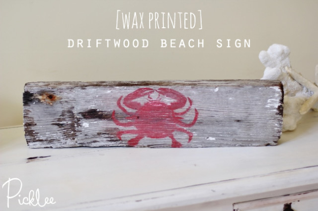 Wax Printed Beach Sign