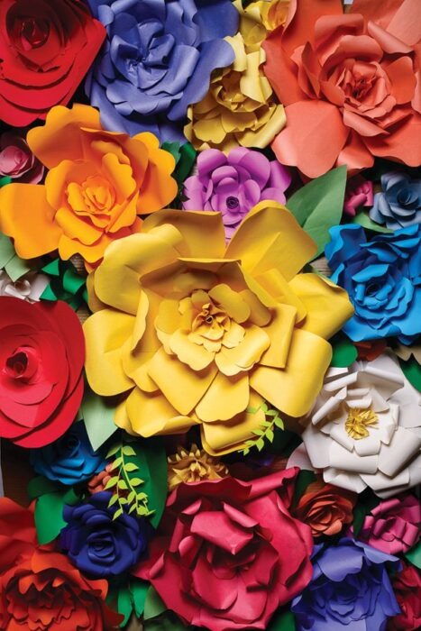 DIY Giant Paper Flowers Tutorial Blog HWTM