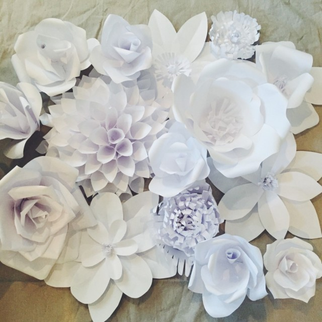 Paper Flower Backdrop Flower 1
