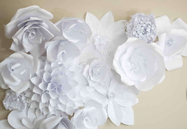 Paper Flower Backdrop Flower 2