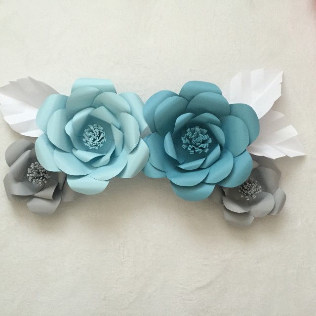 Paper Flower Tutorial AshAndCrafts
