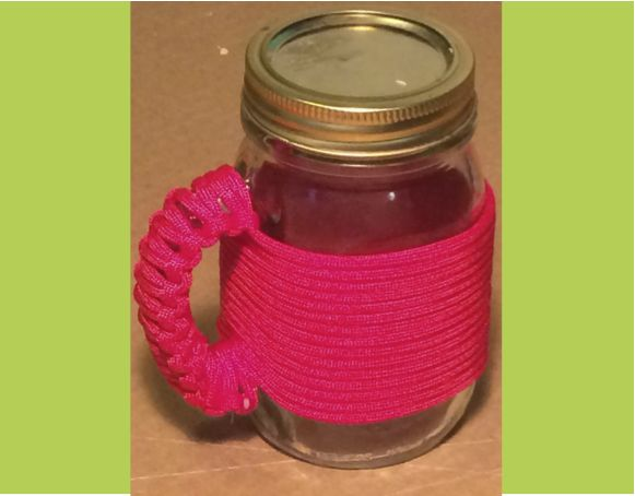 Paracord Wrapped Mason Jar from Instructables