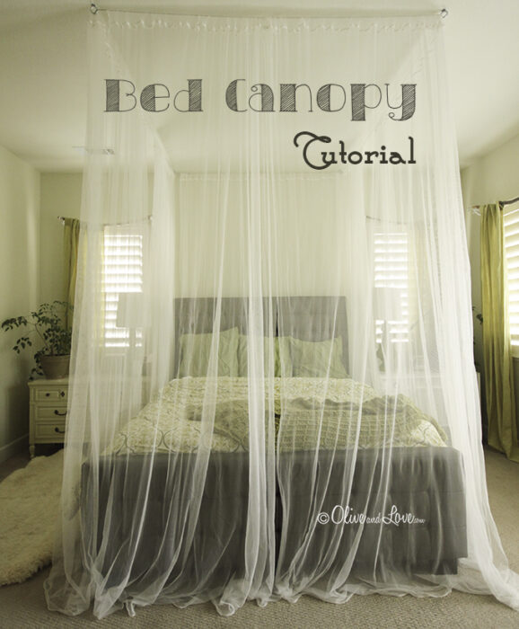 & How to Make a Ceiling Bed Canopy (tutorial)