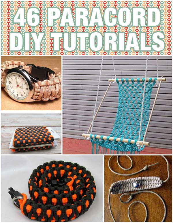 46 Paracord Projects Diy Tutorials