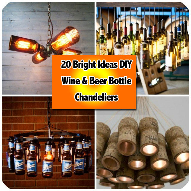 Bright ideas diy wine beer bottle chandeliers 20 bright ideas diy wine beer bottle chandeliers mozeypictures Image collections