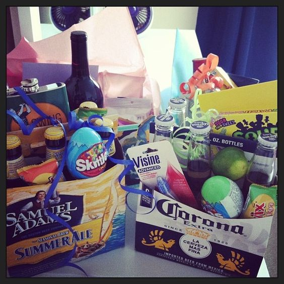 32 homemade gift basket ideas for men adult easter basket negle Choice Image