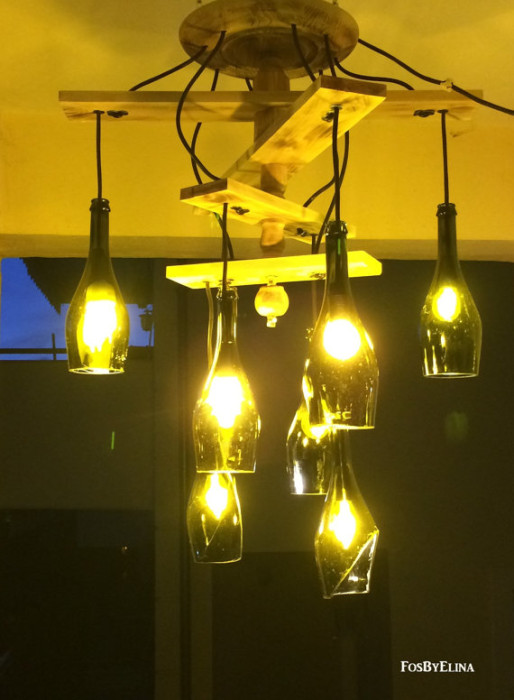 20 Bright Ideas Diy Wine Amp Beer Bottle Chandeliers