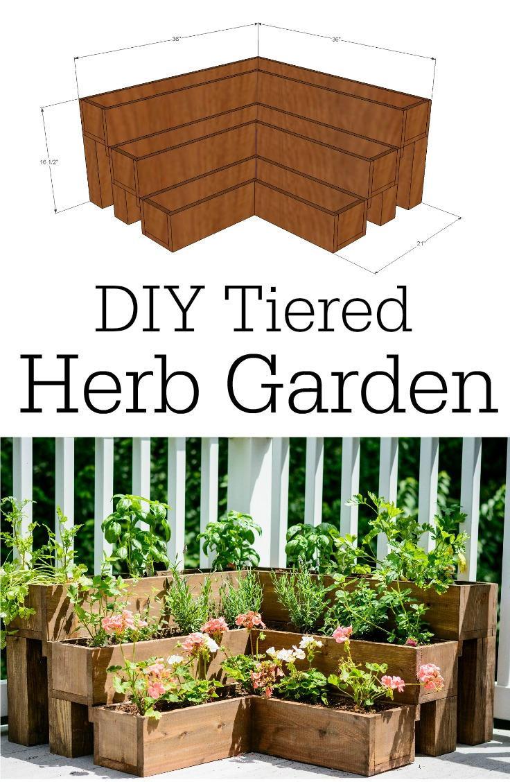 Diy tiered herb garden tutorial for Making a small garden