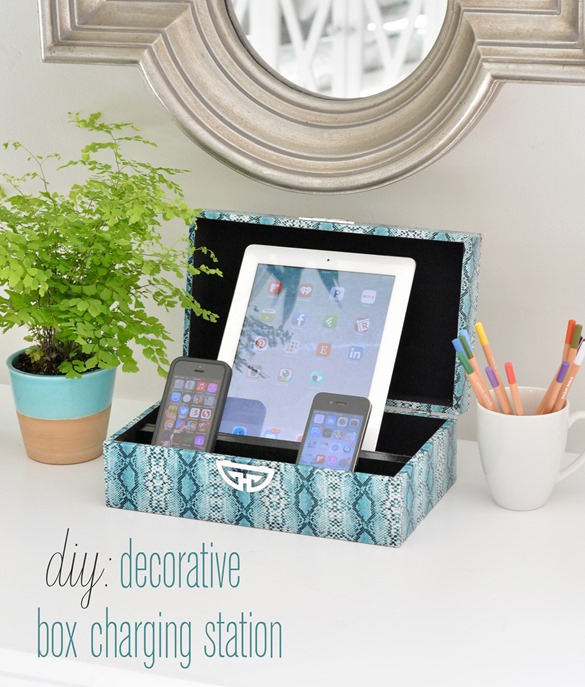 42 craft ideas for teen girls to make decorative box charging station solutioingenieria Gallery