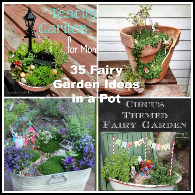 35 fairy garden ideas in a pot for Craft ideas for fairy gardens
