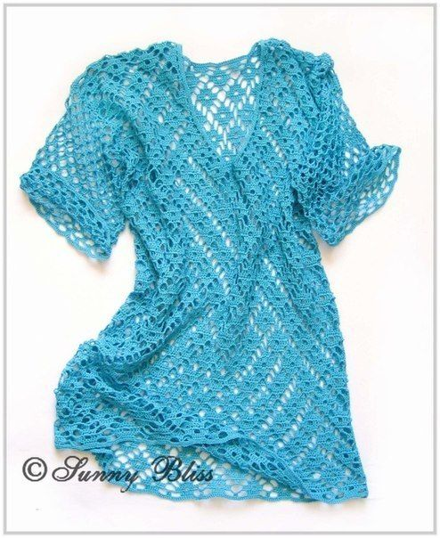 Free Crochet Tunic Pattern For Beginners : Free Crochet Pattern for Spectacular Tunic - BigDIYIdeas.com