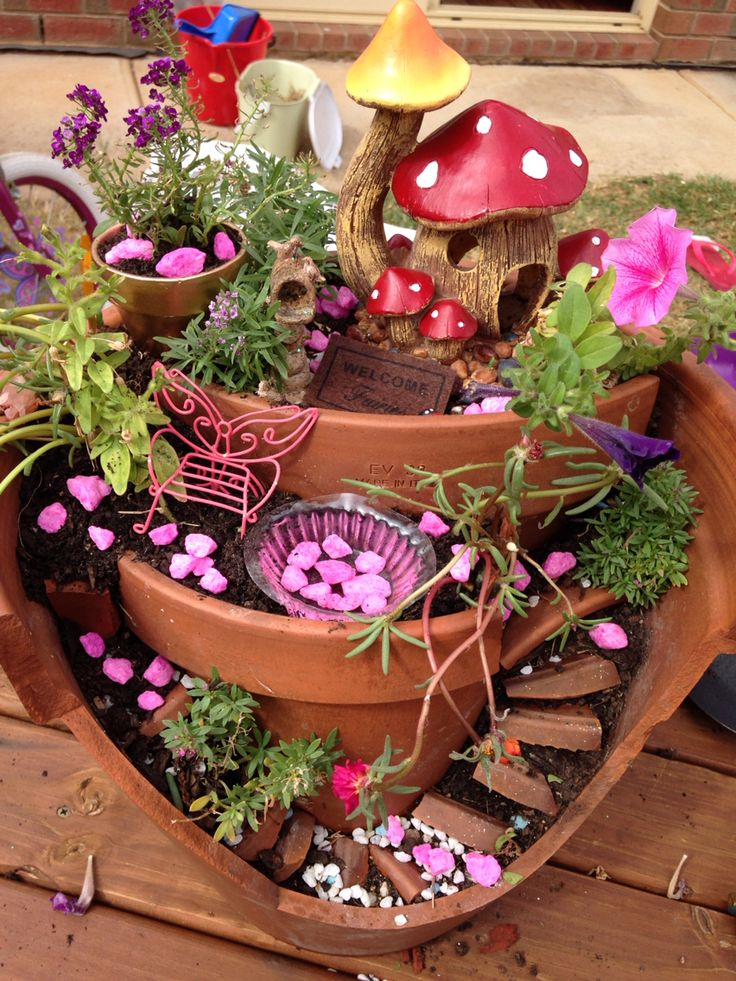 Fairy Gardens Ideas the 11 best fairy garden ideas How To Make A Broken Clay Pot Fairy Garden