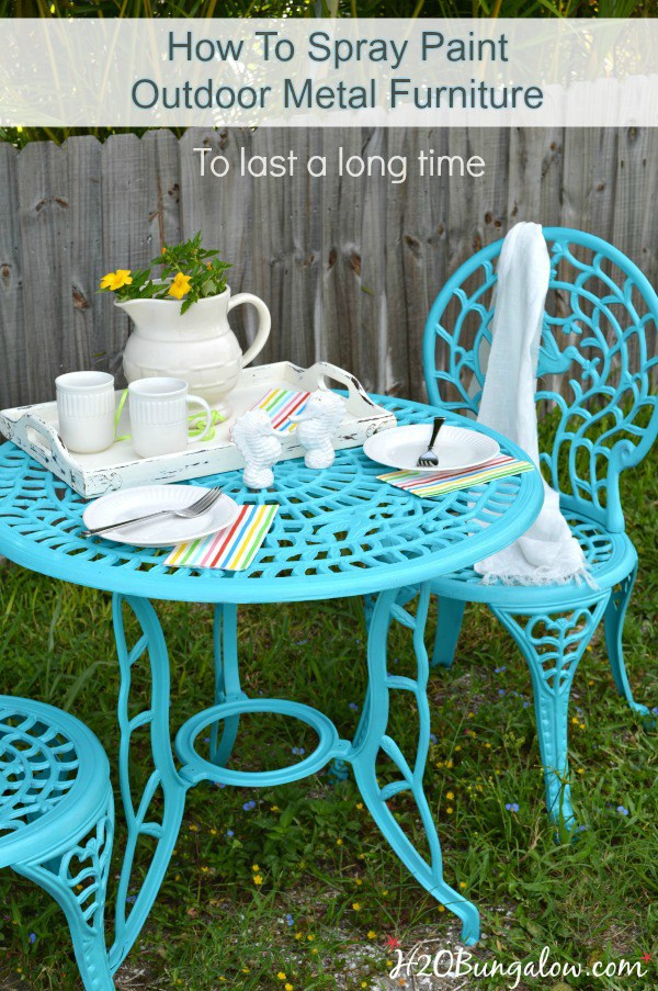 How to spray paint metal outdoor furniture - Garden furniture colour ideas ...