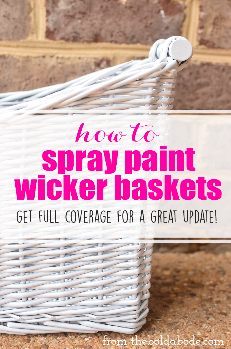 How To Paint Wicker Baskets With Chalk Paint A Coffee Table Makeover The Diy Mommy