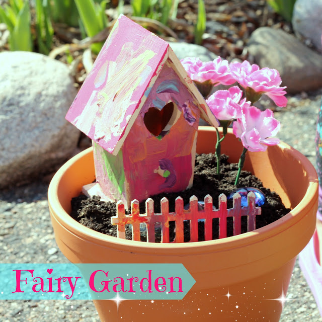 kids craft fairy garden