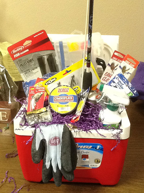 32 homemade gift basket ideas for men fishing gift cooler negle Gallery