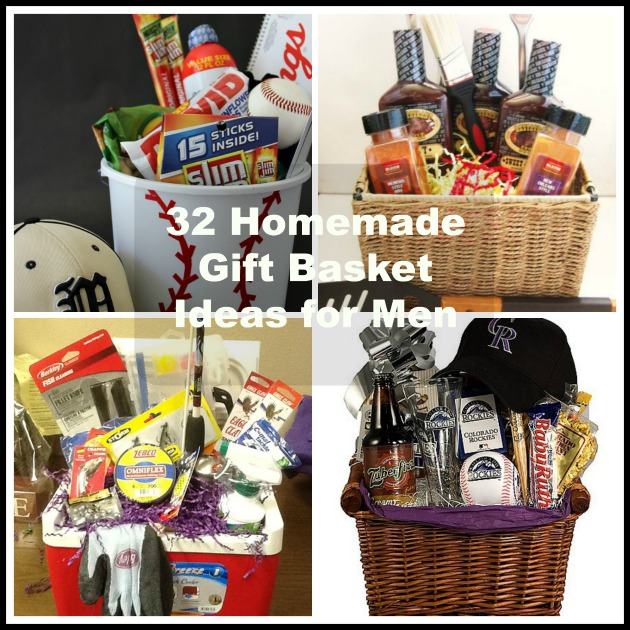 32 homemade gift basket ideas for men for Easy gifts for men