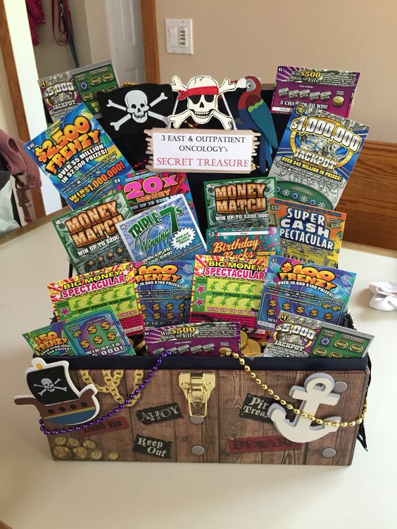 32 homemade gift basket ideas for men lotto ticket gift basket negle Choice Image