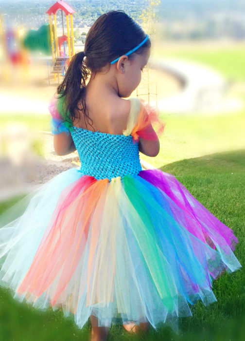 No Sew Rainbow Tutu Tutorial