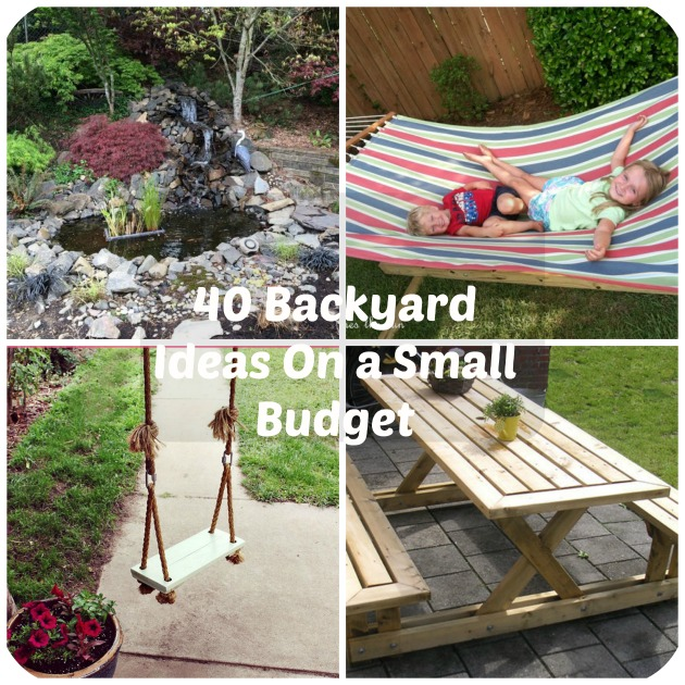 Diy backyard ideas on a budget house decor ideas for Making a small garden