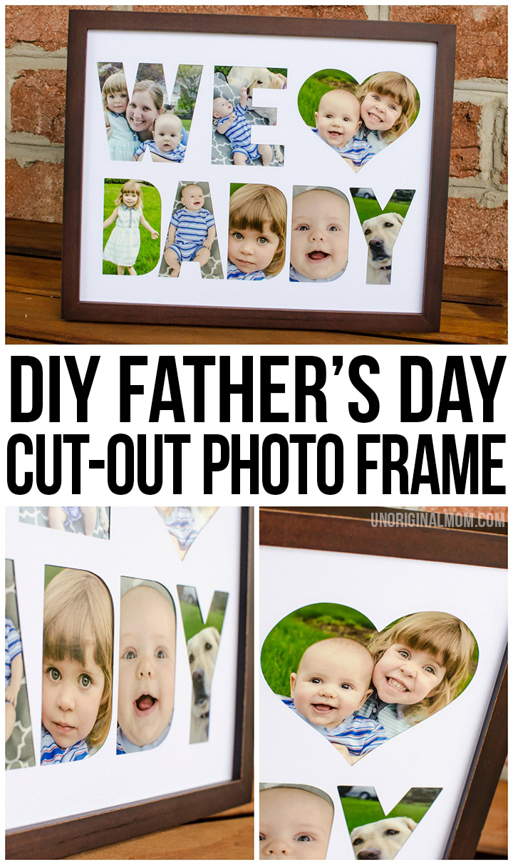Diy Fathers Day Photo Frame Tutorial Bigdiyideas Com