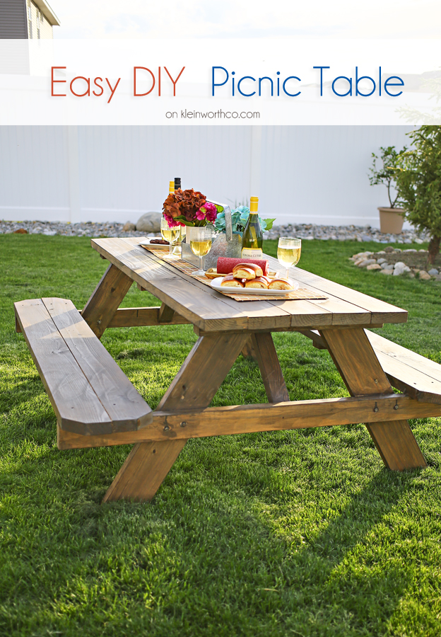 Easy Diy Picnic Table Bigdiyideas Com