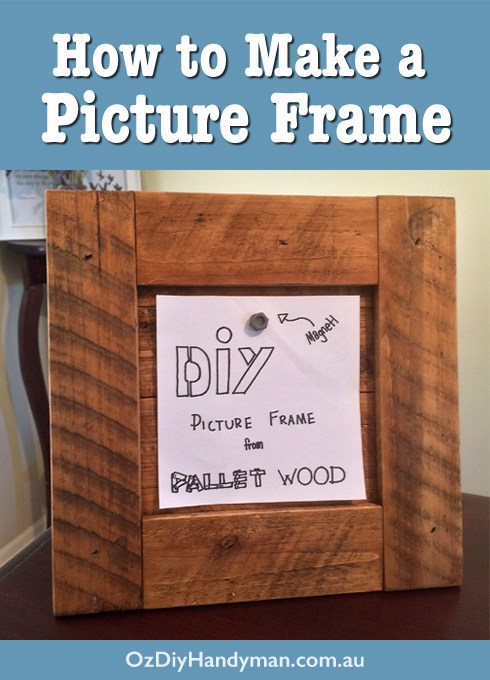 Easy diy picture frame from pallet wood for How to make a large picture frame