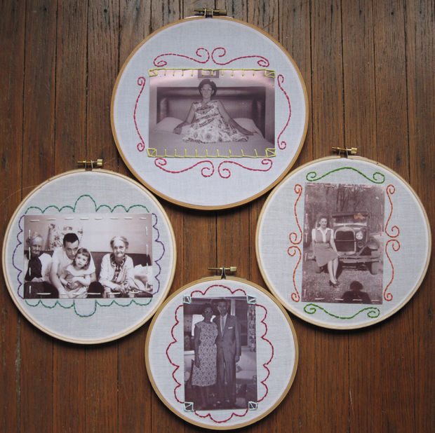 Displayed In This Embroidery Hoop Is A Fantastic: 40 DIY Picture Frames You Can Make & Sell