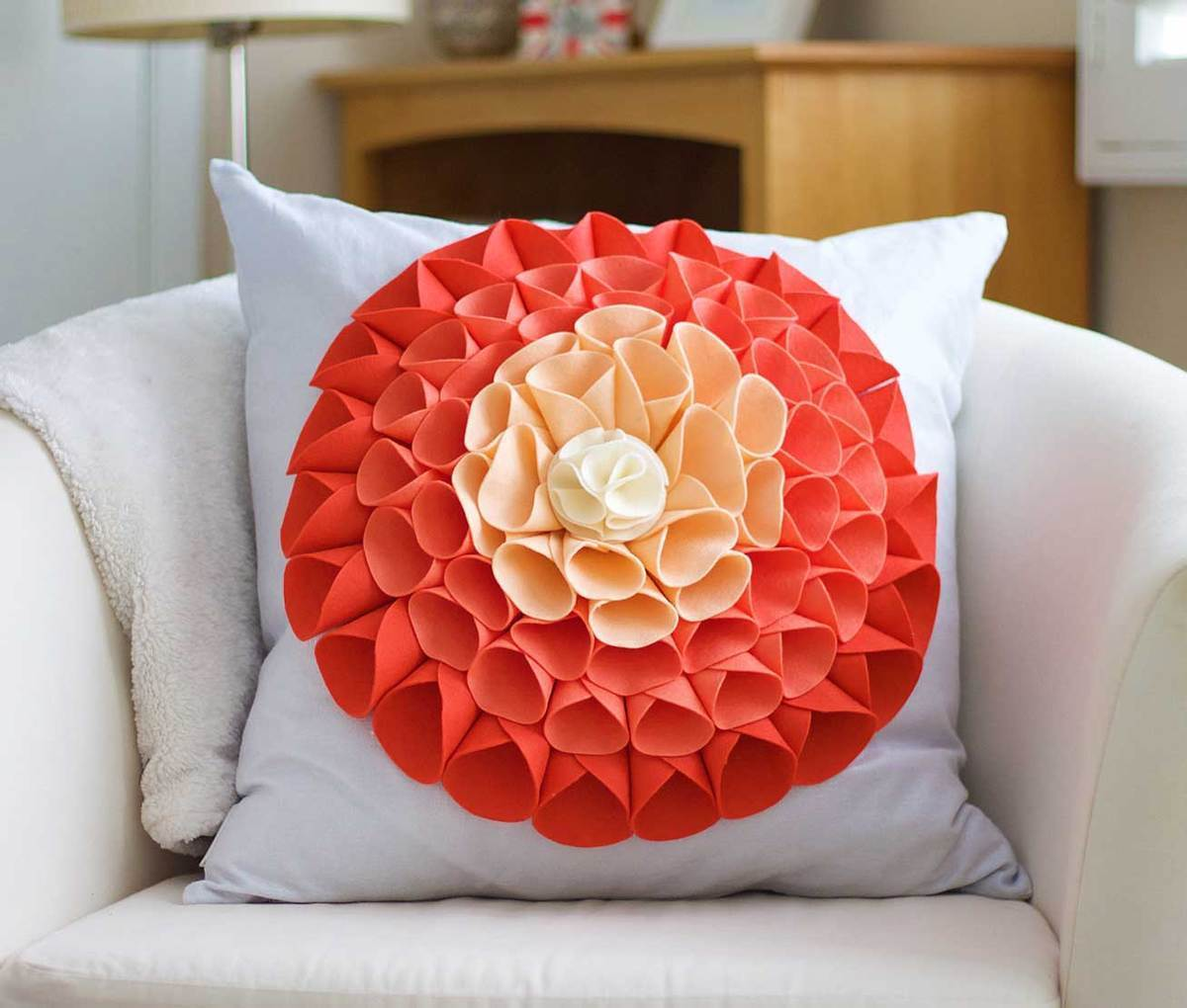 No sew pillow embellishment Pillow design ideas