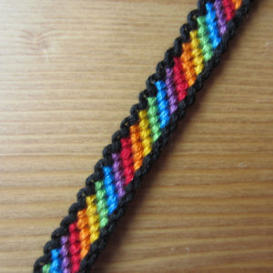 Bordered Rainbow Friendship Bracelet Bigdiyideas Com