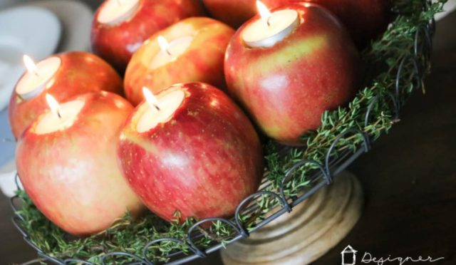 How to Make Apple Candles