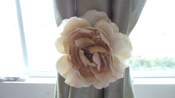 Rustic Floral Curtain Tie Backs