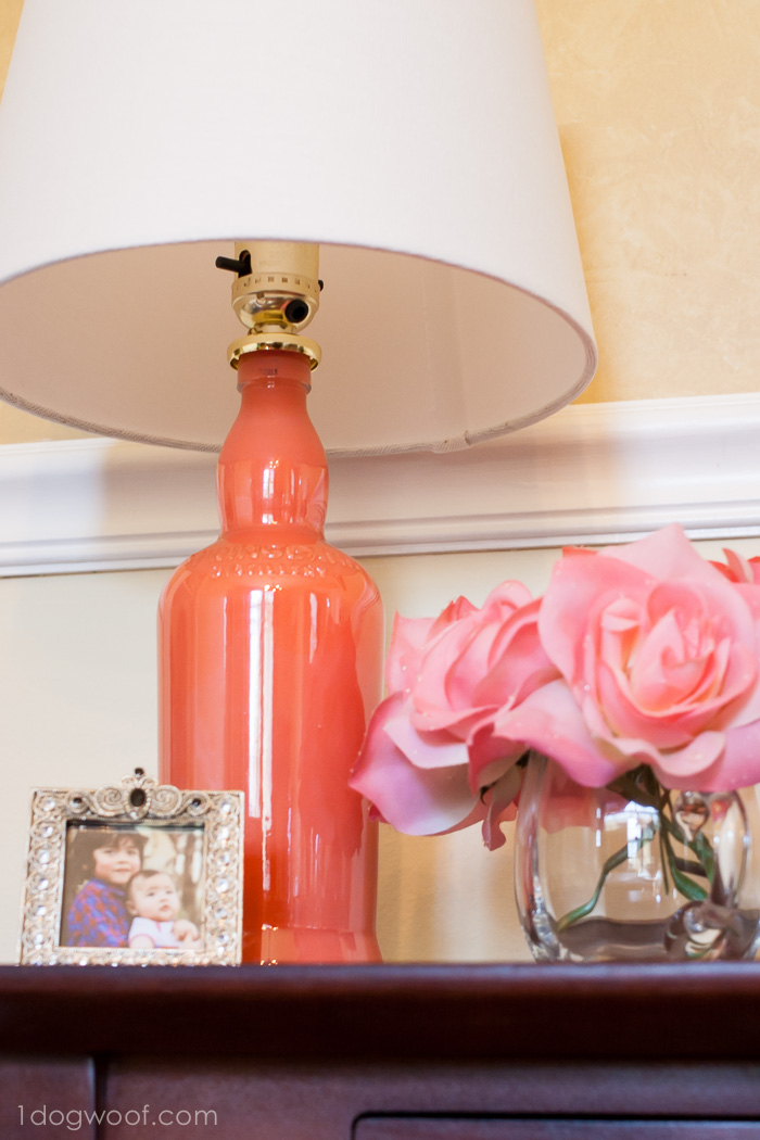 Diy painted lamp upcycle for Ideas for making lamps