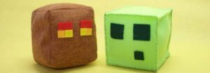 DIY Plush Minecraft Slime and Magma Cubes