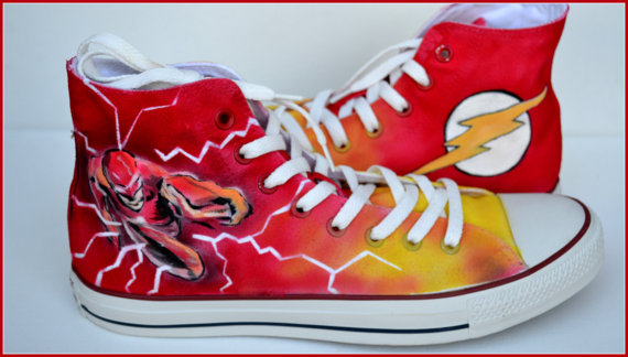 Painted Flash Shoes Bigdiyideas Com