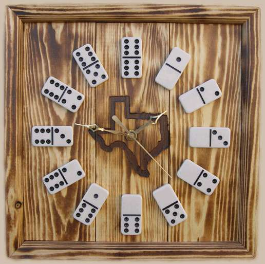 rustic-looking-domino-clocks