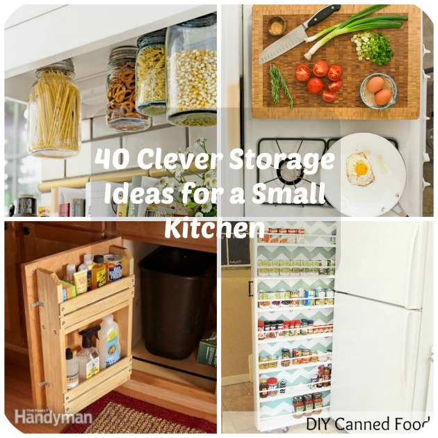 40 clever storage ideas for a small kitchen for Kitchen storage ideas for small kitchens